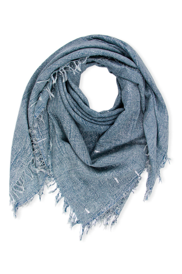 Metallic Rugged Fringe Scarf