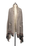 Pocketed Fringe Poncho
