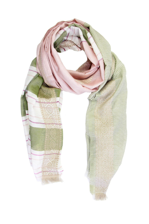 Color Block Striped Scarf
