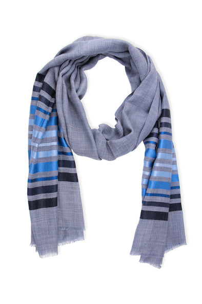 Multi Striped Metallic Scarf