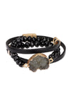 Double Wrap Leather Bracelet