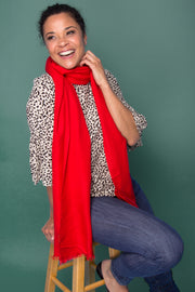 Red Luxurious Cashmere Wrap
