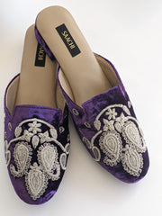 DS 182 PURPLE SILVER VELVET