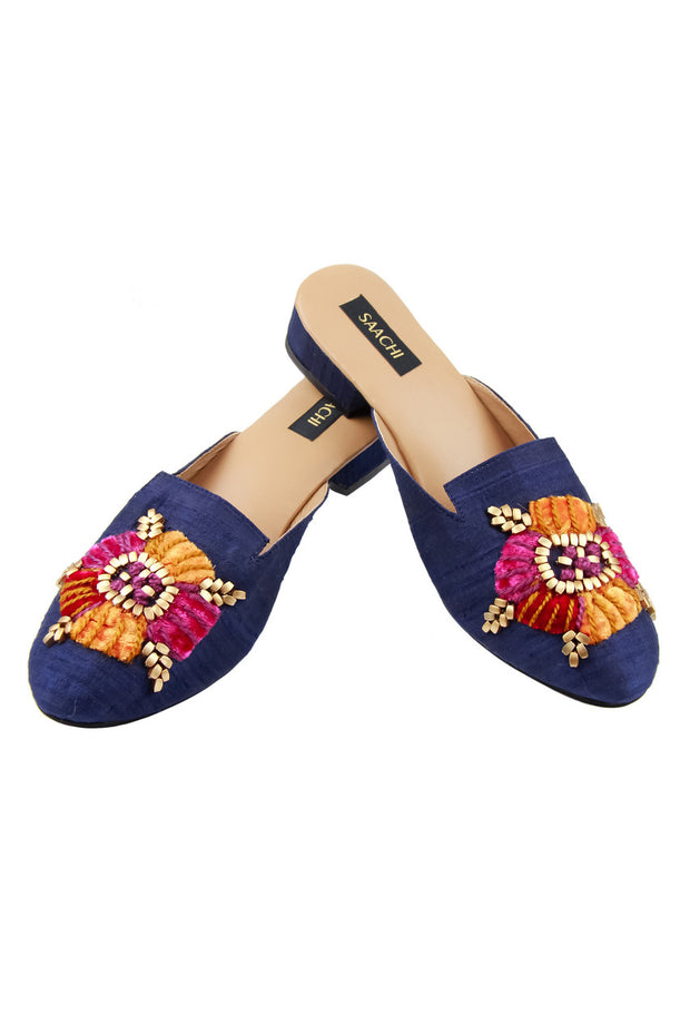 Sunset Beaded Embroidered Mule