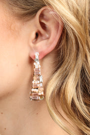 Pharaoh Beaded Statement Earring