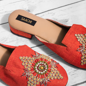 Diamond Embroidered Mule