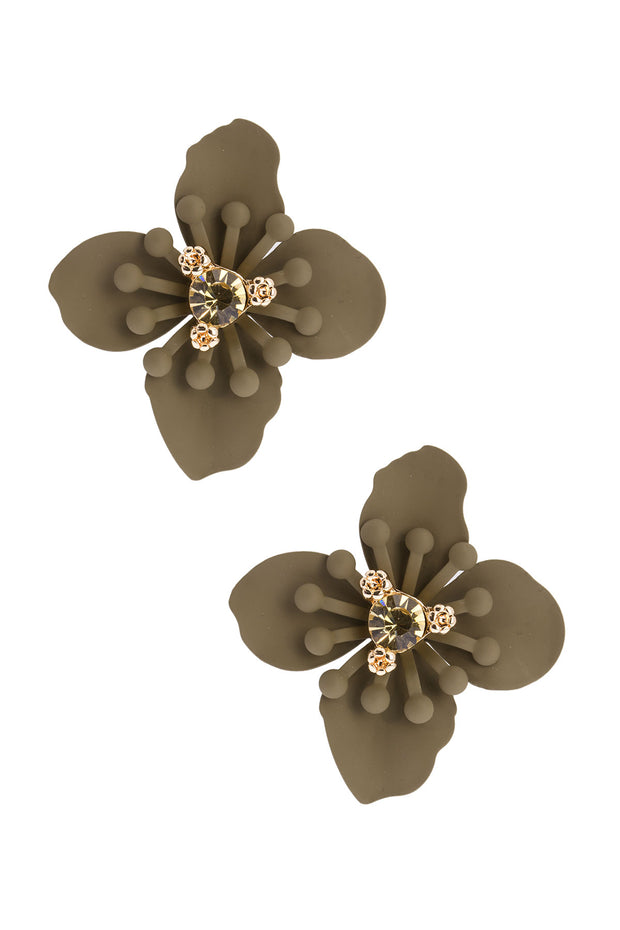 Large Flower Stud Statement Earring