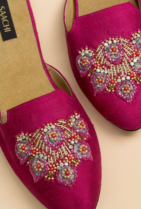 Elizabeth Beaded Personalized Mule