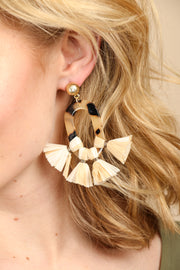 Montauk Resin and Tassel Earring