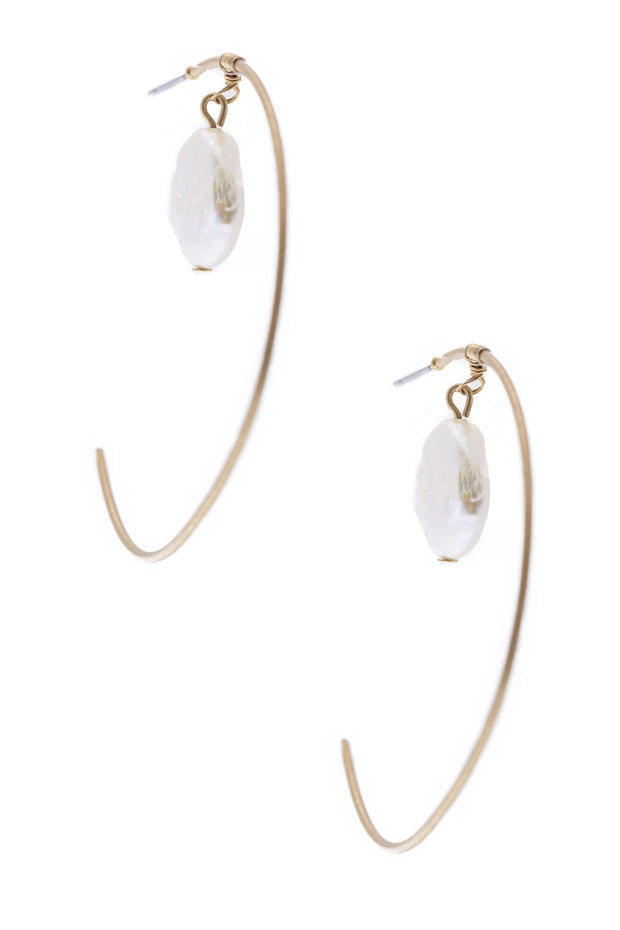 Open Space Hoop Earring