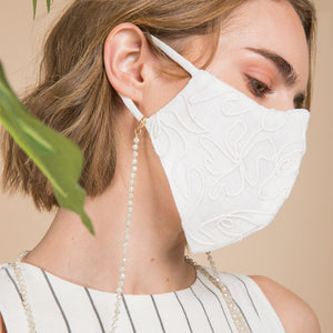 Linen Embroidered Mask