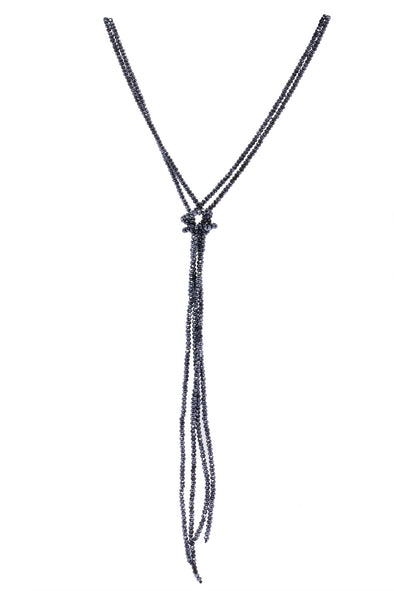 Simple Knotted Crystal Necklace