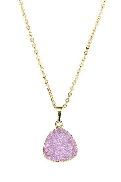 Think Pink Druzy Necklace