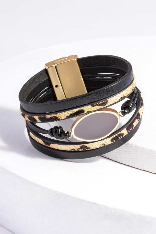 Perfectly Wild Leather Bracelet