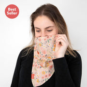 Scough Blush Floral Bandana with Filter
