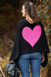 Heart Cashmere and Silk Poncho