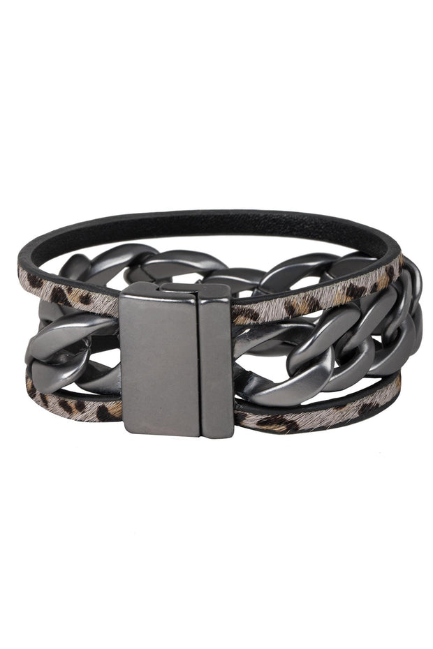 Strongest Link Leather Bracelet