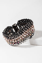 Mosaic Crochet Beaded Statement Bracelet