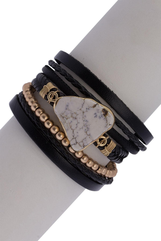 Double Wrap Leather Bracelet, womens fashion accessories