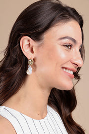 Baroque Garden Pearl Drop Earring