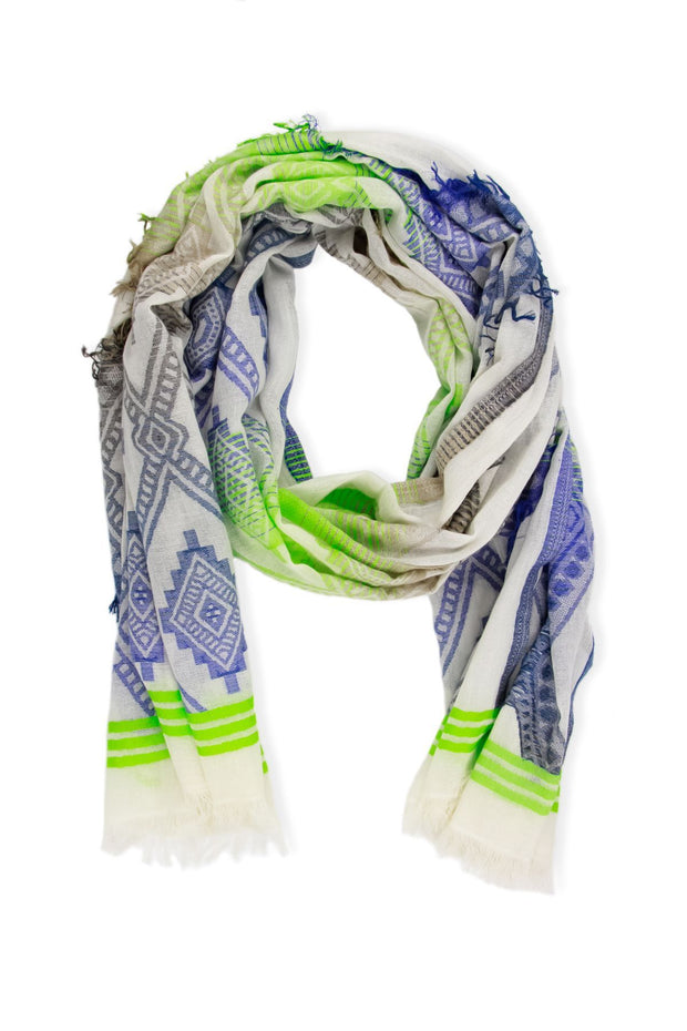 Abstract Tie Dye Diamond Scarf