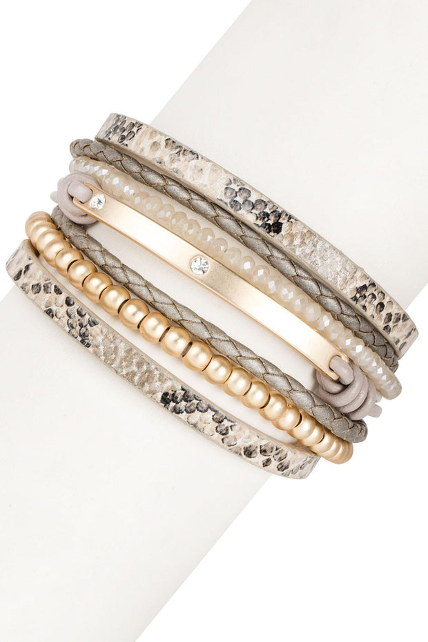 Bharti Beaded Leather Bracelet