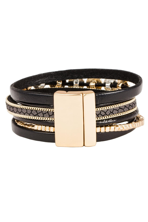 Dotted Line Leather Bracelet
