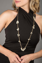Cluster Party Pearl Necklace