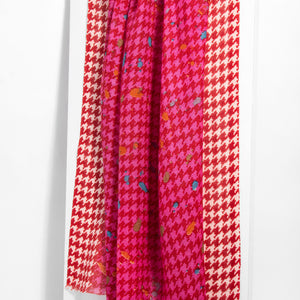 Fun Houndstooth Scarf