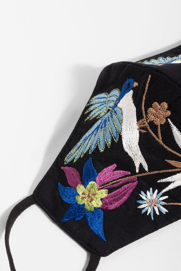 Hummingbird Embroidered Face Mask
