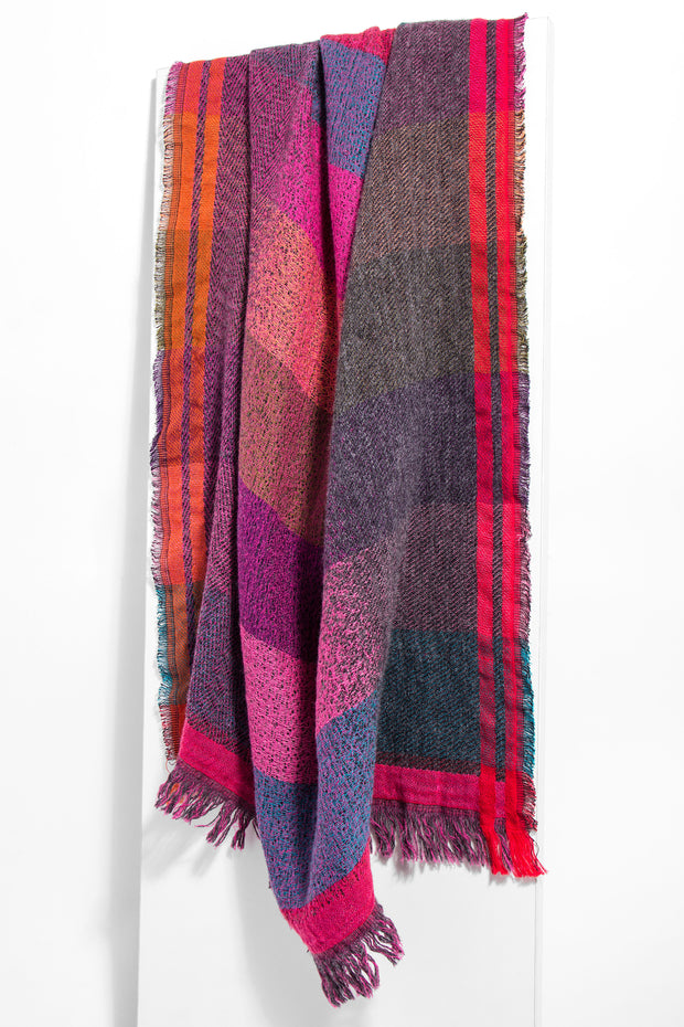 Kenzie Striped Printed Scarf