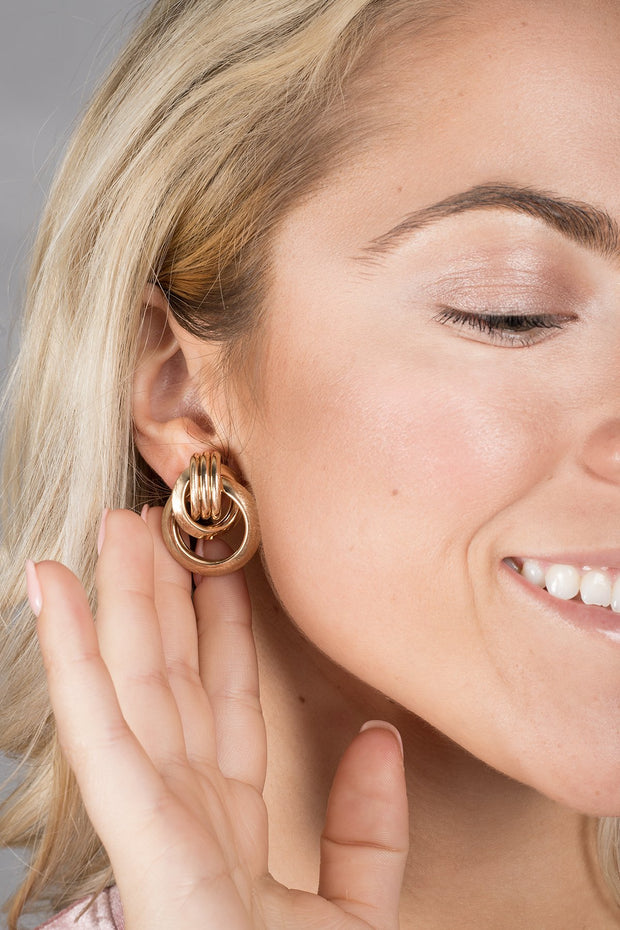 Knotted Stud Earring