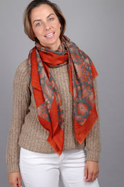 Maelie Two Tone Oblong Scarf