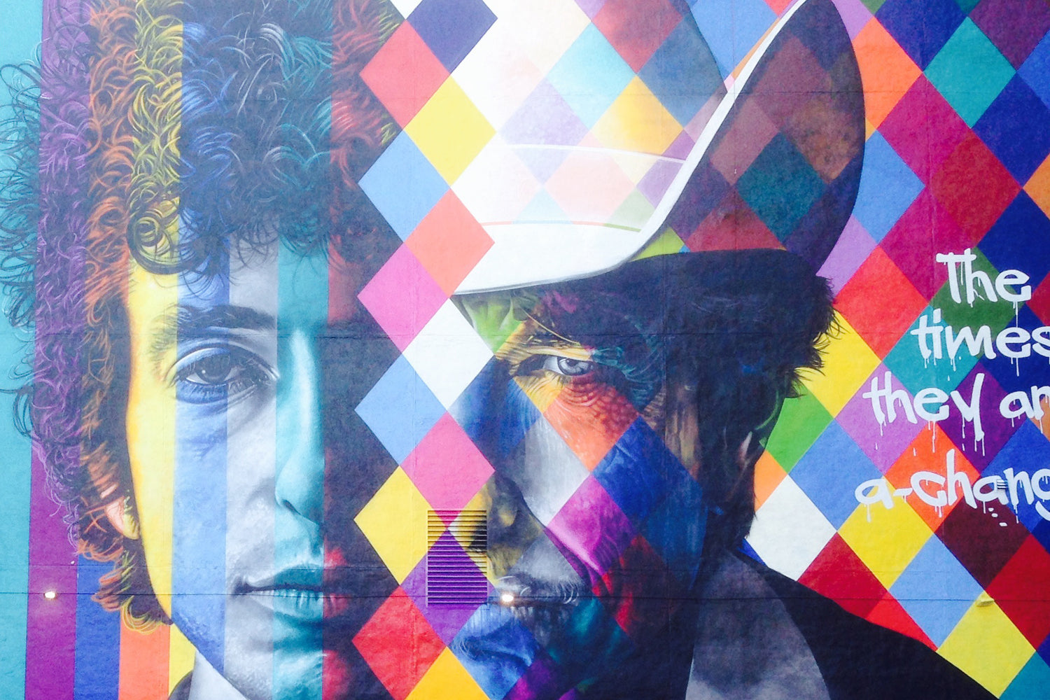 Hi Bob! Kobra Puts the finishing touches on his Dylan homage