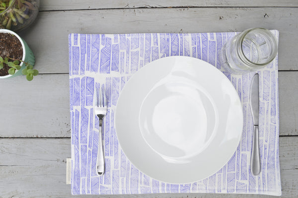 Bamboo Placemat- Blueberry