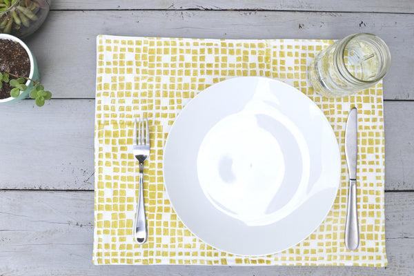Grid Placemat- Golden Rod