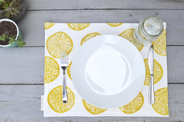 Lemonslice Placemat- Golden Rod