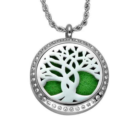Tree of Life - Aromatherapy Essential Oil Diffuser Necklace