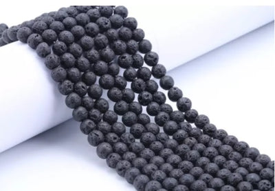 Loose Black Lava Stone Beads for Essential Oil Diffusing
