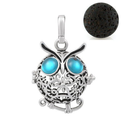 The Owl Necklace - Aromatherapy Essential Oil Diffuser Necklace