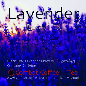 Lavender Black Tea - Loose Leaf - 3 oz