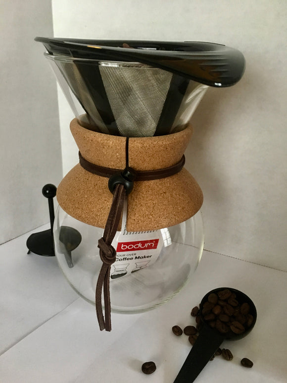 Pour Over Chemex Style Coffee Maker with Reusable Filter - 34oz