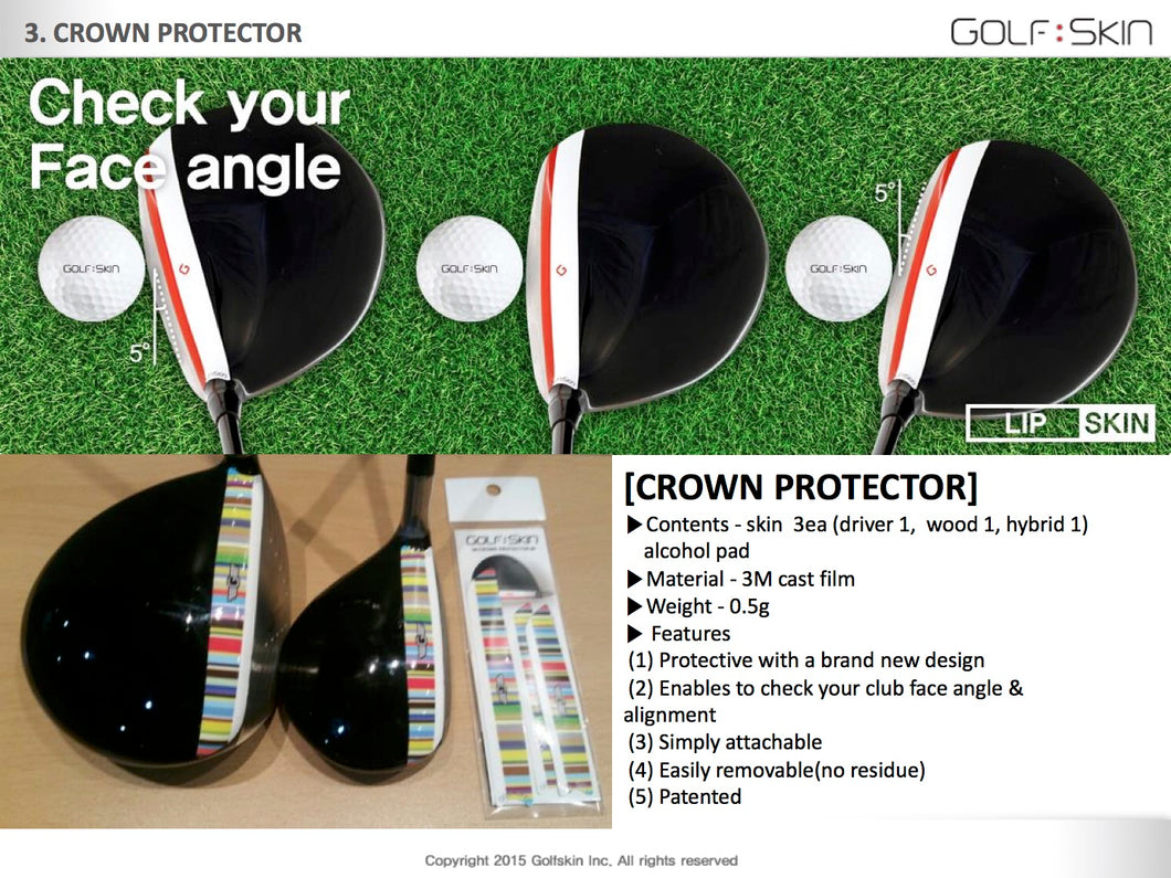 GOLFSKIN Crown Protector - 3pieces - Driver,3Wood,Hybrid