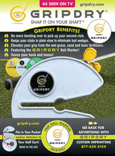 GRIPDRY - No more wet Grips + magnetic ball marker - White and Yellow