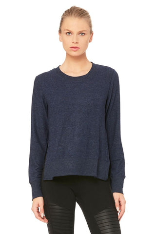 Alo Yoga Glimpse Long Sleeve- Rich Navy