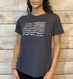 The Salty Babe Wave Flag tee shirt - The Salty Babe