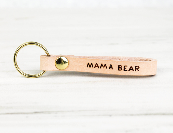 MAMA BEAR Leather Loop Key Chain - The Salty Babe