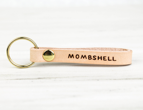 MOMSHELL Leather Loop Key Chain