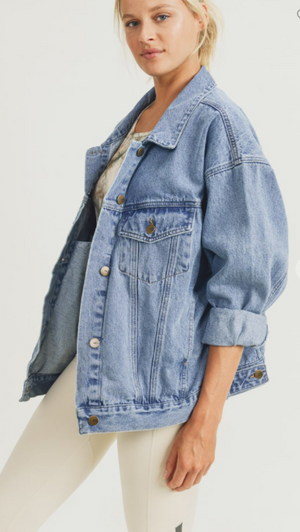 SALTY BABE THE LABEL Oversized denim jacket