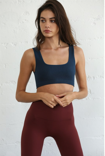 Everyday Essentials seamless square neck bra top